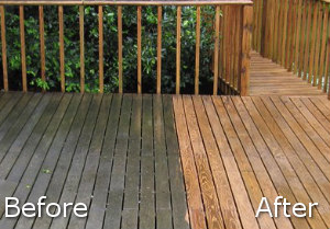 Before After Jet Washing